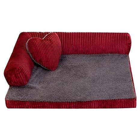 Zhaoke Sofá cama suave y cálido para mascotas, cachorro, perro, gato, cojines
