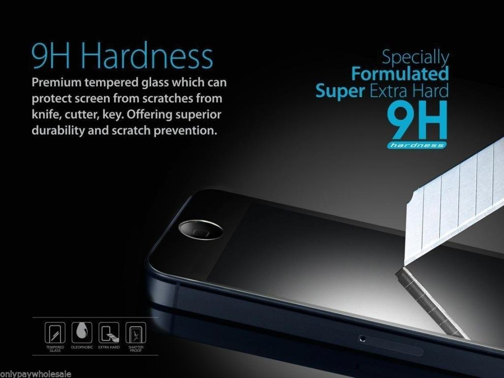 New Premium Real Tempered Glass Screen Protector Film for Apple iPhone 6 by TB1 Products /®