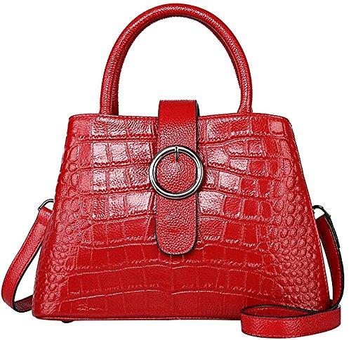 et visage à motif en crocodile Red fourre Messenger été sac femelle cuir Pure main Printemps Sacs sac à tout Bandoulières main doux vqdRI5wH