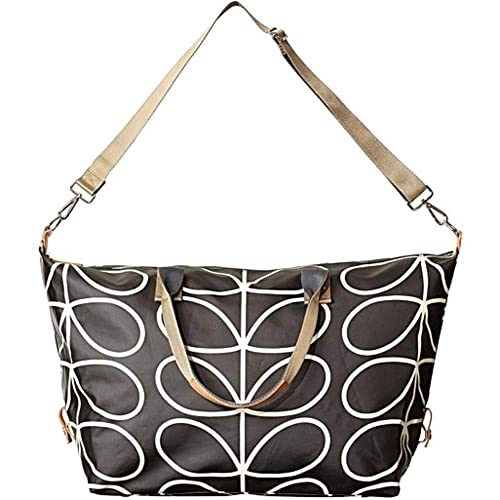 Orla Kiely Giant Linear Stem Zip Holdall in Liquorice  Amazon.co.uk  Shoes    Bags e53f63fbef