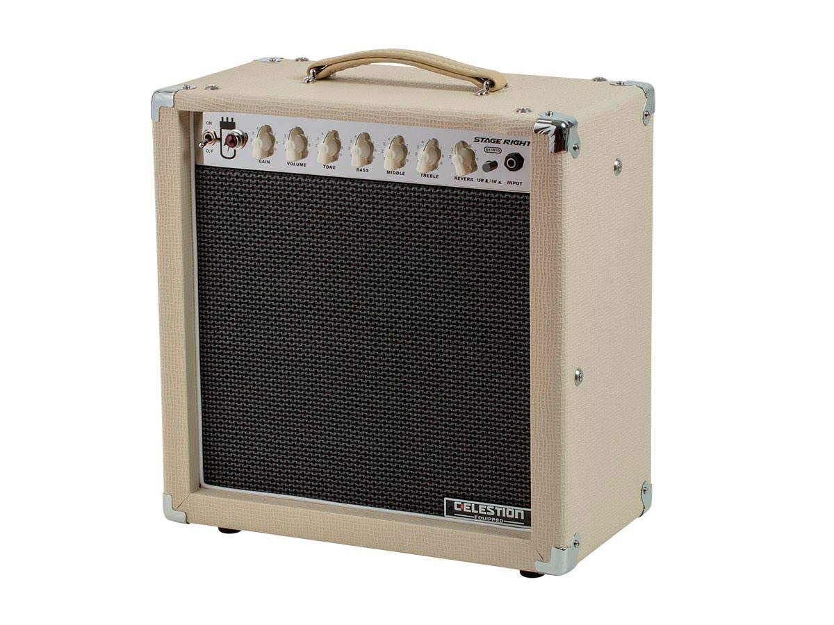 Monoprice 611815 15Watt, 1 x 12 Guitar Combo Tube Amplifier with Celestion Speaker & Spring Reverb by Monoprice