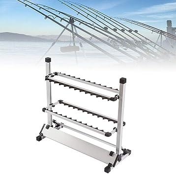 Soporte de caña 24 cañas Cañas de Pescar Soportes de caña de Aluminio Fuertes Soporte de caña de Pescar