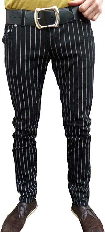 60s 70s Men's Clothing UK | Shirts, Trousers, Shoes Fuzzdandy Mens and Womens Skinny Pin Stripe Jeans Trousers Mod Retro Vintage Drainpipe Pants £29.99 AT vintagedancer.com