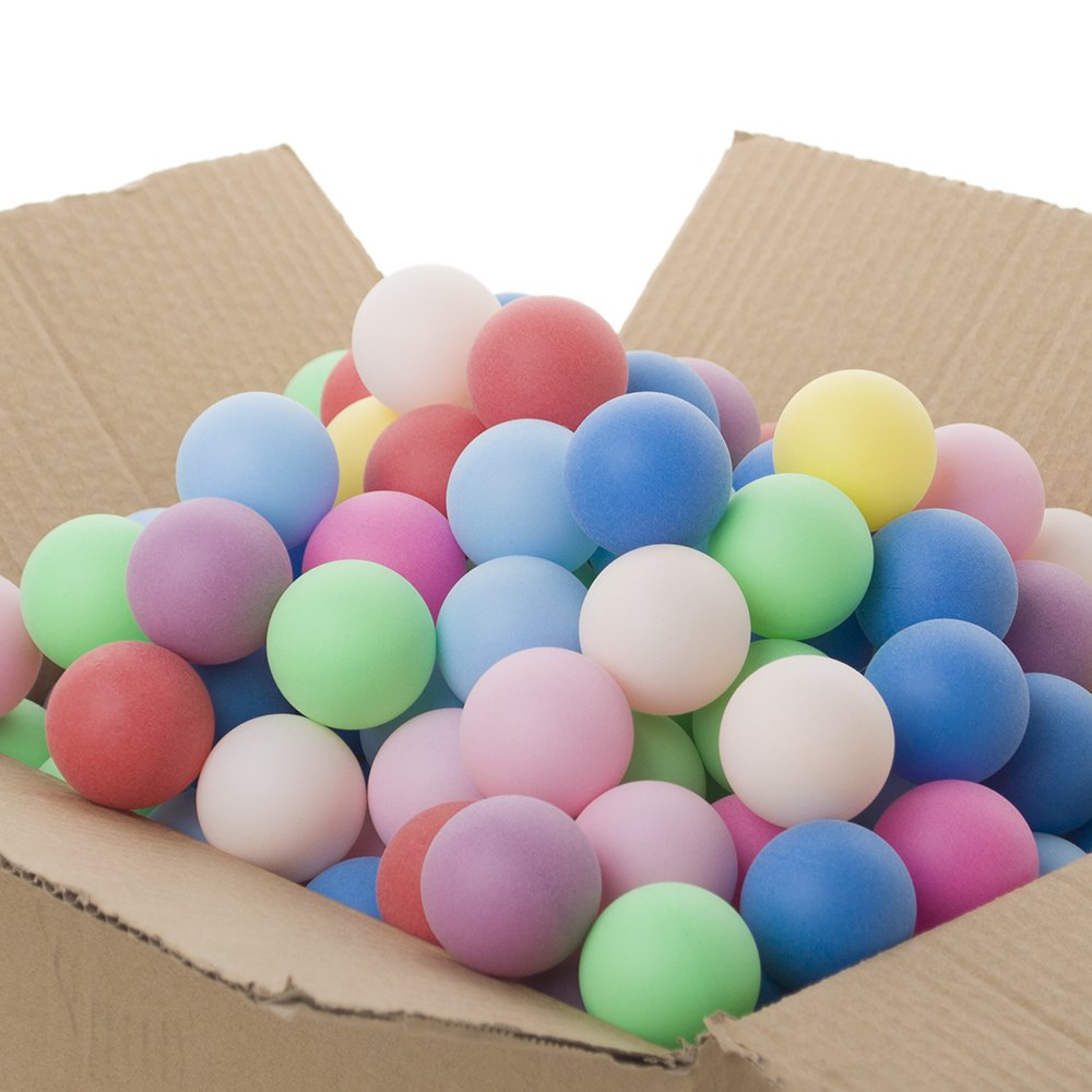 Balles de bière-pong Gogo de 40mm dans un lot de 150 pièces aux couleurs assorties mixte coloris assortis taille unique