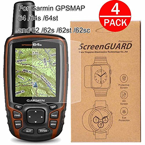 [4-Pack] For Garmin GPSMAP 64/64s/64st and 62/62s/62st/62sc/62st Screen Protector