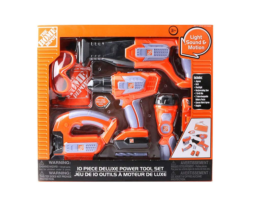 Home Depot 10 Piece Deluxe Power Tool Kids Toy