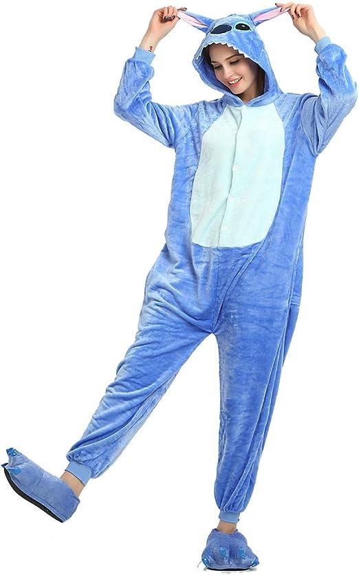 WANLN Juego de Roles Disfraz de Dibujos Animados Puntadas Azules ...