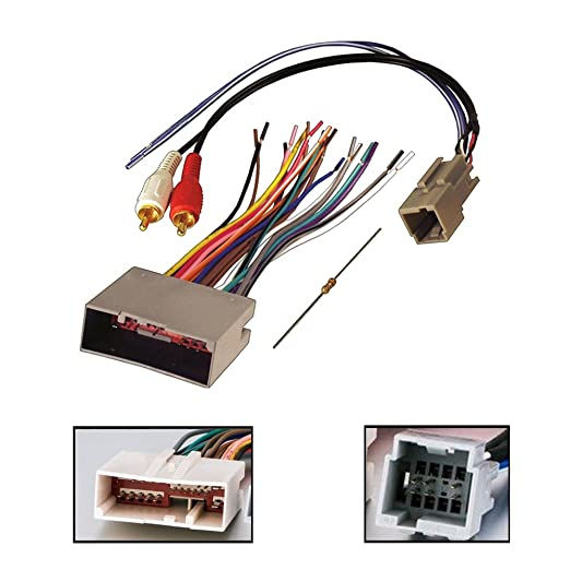 61AID WDVLL._SX522_ amazon com audiophile car stereo cd player wiring harness wire  at nearapp.co
