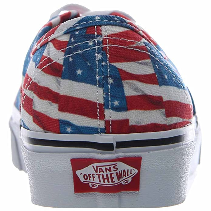 Amazon.com | Vans Authentic Free Flag Red/True White Men's Classic Skate  Shoes Size 13 | Skateboarding