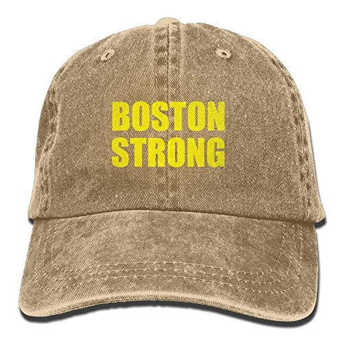 Boston Strong Plain Adjustable Cowboy Cap Denim Hat for Women and Men (Boston Strong Winter Hat)