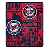 Northwest NOR-1MLB031020017RET 50 x 60 in. Minnesota Twins MLB Light Weight Fleece Blanket, Strength Series