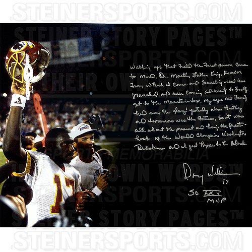 Doug Williams Autographed Super Bowl 16x20 Story Photograph - Certified Authentic Autograph - Doug Williams Super Bowl
