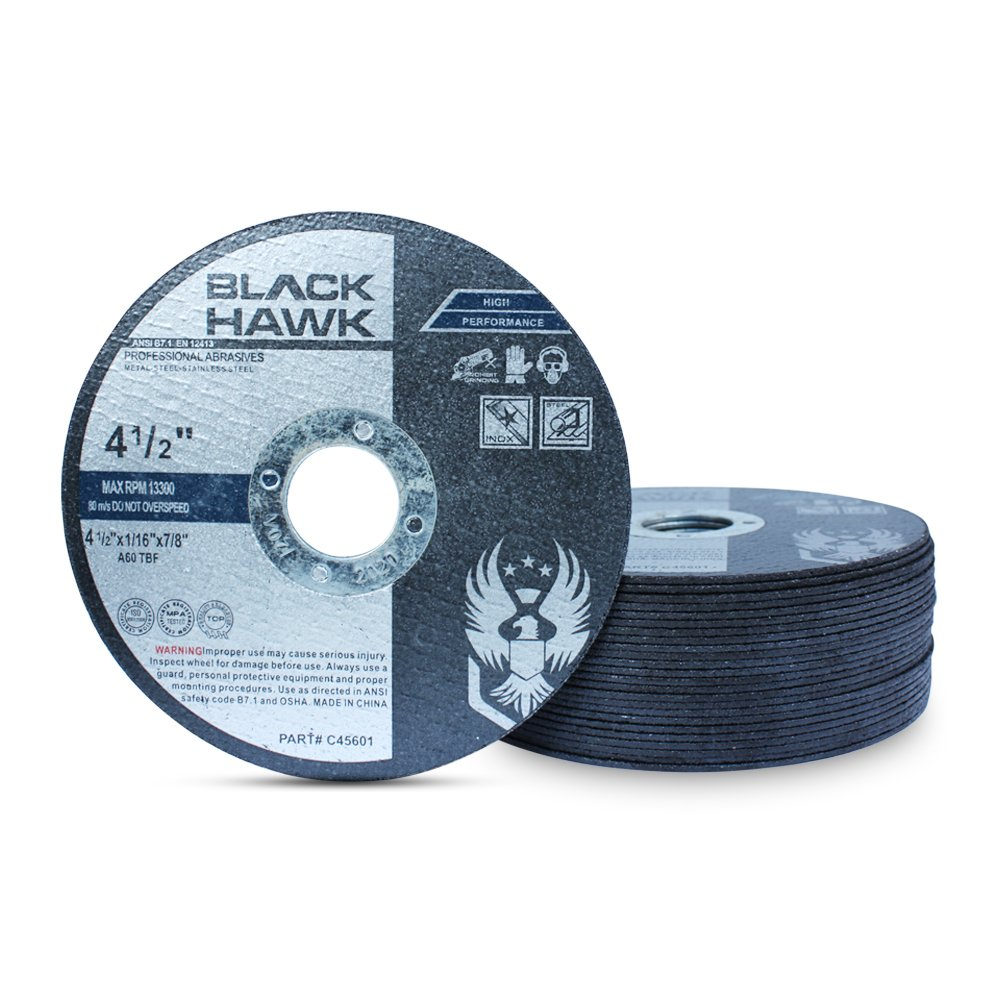 25 Pack 4-1/2'' x 1/16'' x 7/8'' Metal and Stainless Steel Cut Off Wheels - For Angle Grinders by Black Hawk (Image #1)