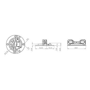 4 piezas Herraje Giratorio para Mesa//Conexi/ón Giratoria//Conector para Mesa extensible//Cerrojo Giratorio para Mesa