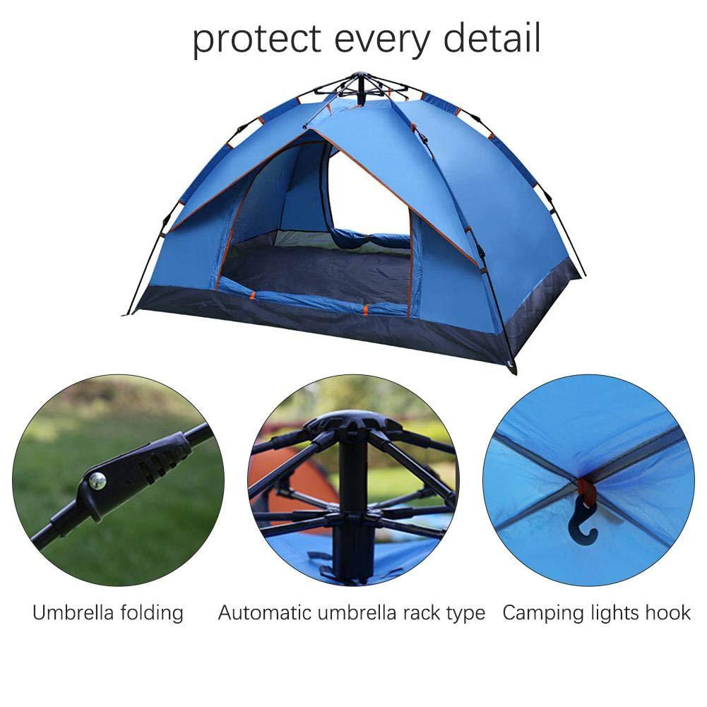 Libeauty Zwei-Personen-Campingzelt Anti-Sun Automatisches Zelt Anti-Sun Zwei-Personen-Campingzelt Wasserdicht Anti-Moskito Zwei-Schicht-Zelt Strand Zelt 0c1184