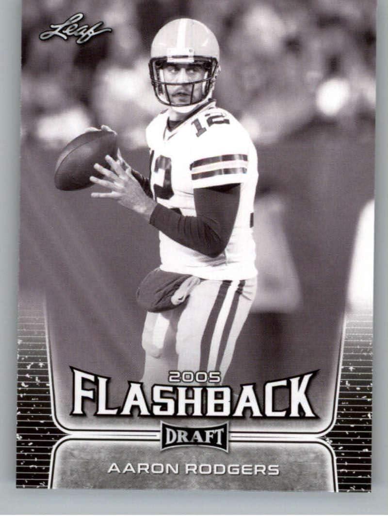2020 Leaf Draft #91 Aaron Rodgers - California Golden Bears (Flashback)(Green Bay Packers) NM-MT NFL Football Card