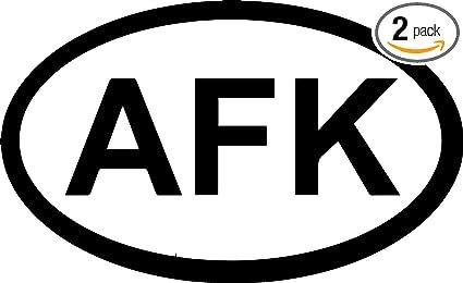 Amazon com: AFK Location (Black) (Set of 2) Premium Waterproof Vinyl