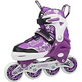 Crazy Skates 168 Kids Adjustable Inline Skate - Adjusts 4 Sizes with Bonus Free Love Roller Skating Bag (168P15) (SMALL - j12-2)
