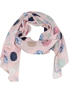 Pañuelo de seda para mujer con estampado de topos, de Zwillingsherz / elegante accesorio para