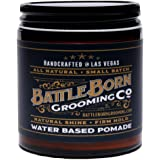 Pomade by Battle Born Grooming Co | All Natural Unorthodox Water Based Pomade | 4 oz | 113 g