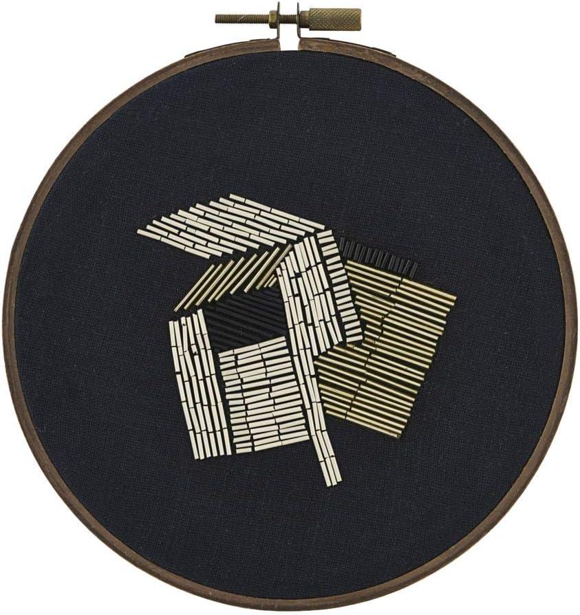 House Doctor Wandschmuck Perlen schwarz//wei/ß//gold 25x25cm