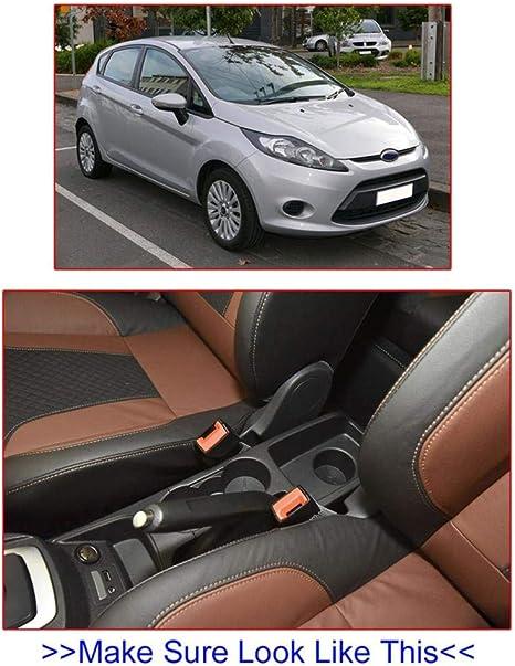 Bouder Auto Armlehne Für Ford Fiesta 2009 2017 Mittelkonsole Aufbewahrungsbox Armlehne Drehbar 2010 2011 2012 2013 2014 2015 2016 Sport Freizeit