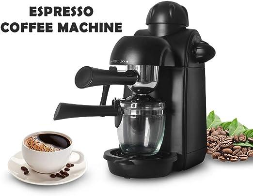 Cafetera italiana de cappuccino con máquina de café de espuma de leche, cafetera automática de 5 bares para el hogar.: Amazon.es: Hogar
