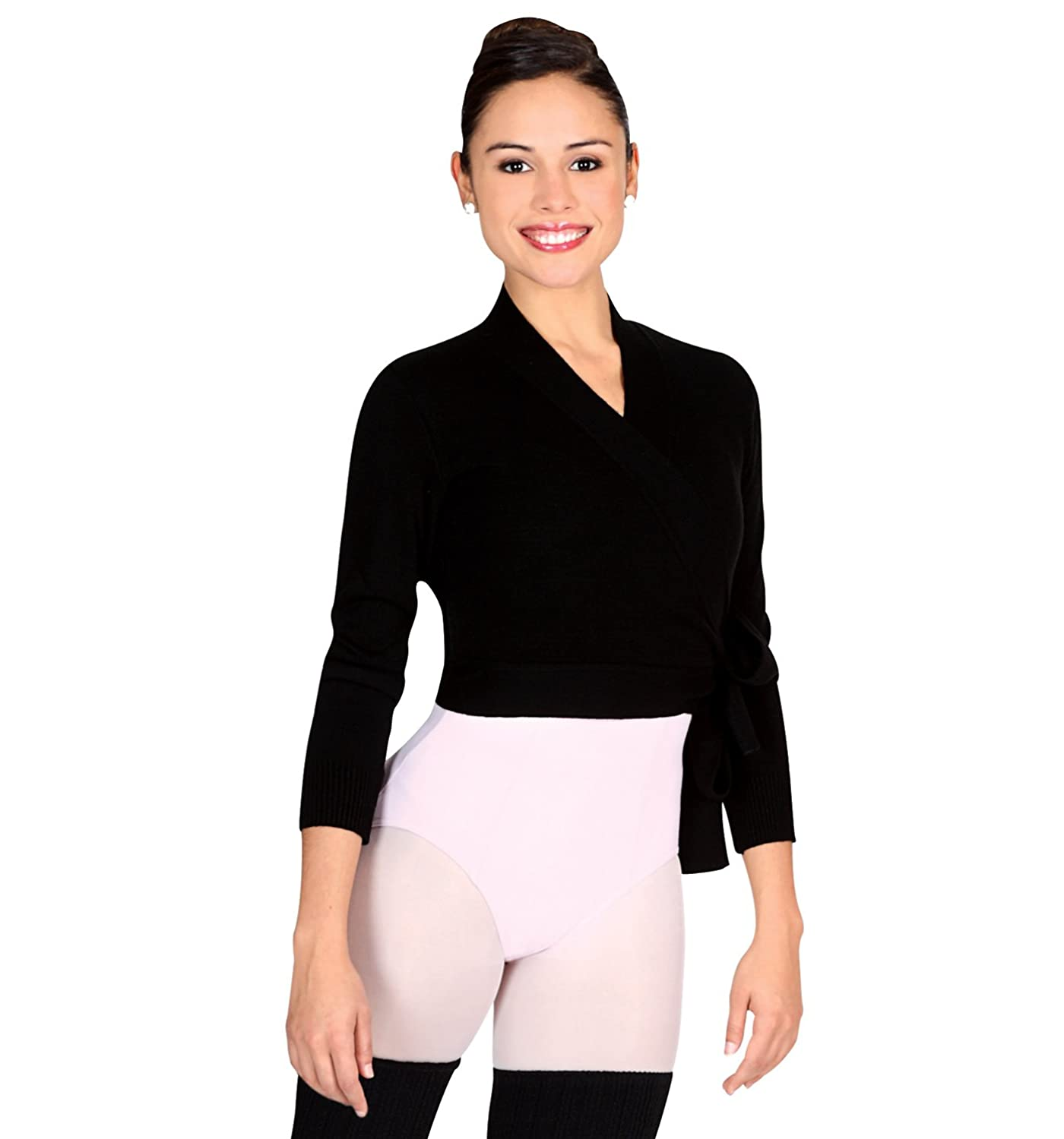 Adult Wrap Sweater, 72523ABLKM, Black, Medium at Amazon Women's ...