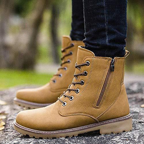 Zapatos De Botines Toamen Planos Y Hombre De De Botines Tobillo Detalle con Invierno MartíN OtoñO Amarillo Swqpw6Ca