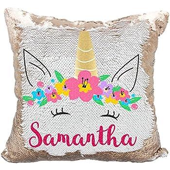 Amazon Com Personalized Mermaid Reversible Sequin Pillow