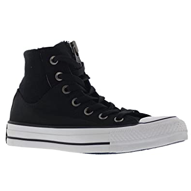 Image Unavailable. Image not available for. Color  Converse Womens Chuck  Taylor MA - 1 Zip Hi Black White ... 1b08c410e