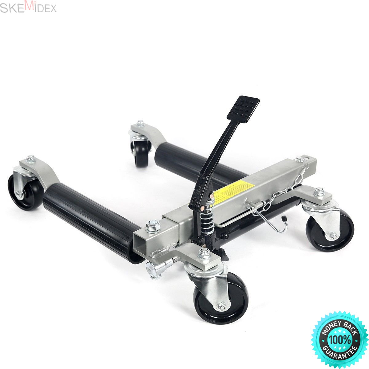 SKEMIDEX---2pc 1500lb HYDRAULIC Positioning Car Wheel Dolly Jack Lift hoists Moving Vehicle And moving dollies moving dolly lowes moving dolly rental walmart dolly hand truck costco hand truck by SKEMIDEX (Image #1)
