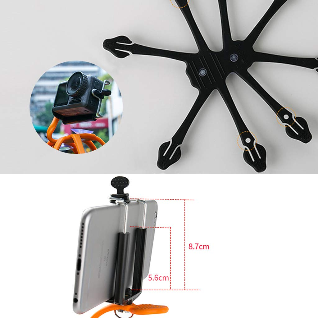Black CreazyBee Flexible Mobile Phone Holder Magical Octopus Lazy Necklace Bracket Bed Frame