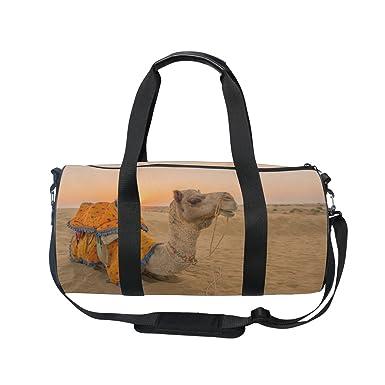 6b64867942 Image Unavailable. Image not available for. Color  Cooper girl Sunset  Desert Camel Duffels Bag Travel Sport Gym Bag