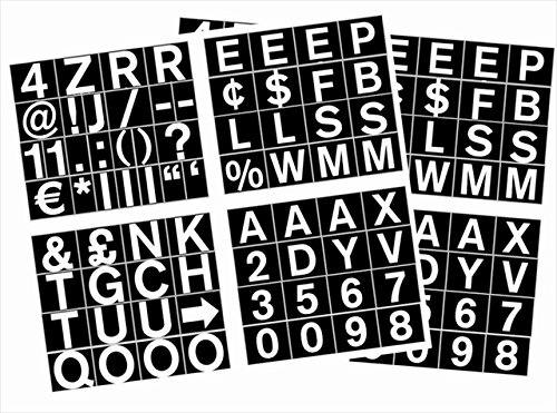 MasterVision Set of Letters, Numbers and Symbols, Magnetic, 1'', Over 70 Pieces, Black/White by MasterVision