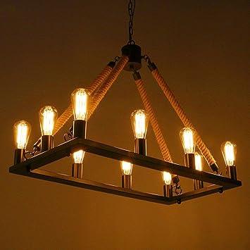 CLLCR Lámpara de Techo para Sala de Estar, 10 Luces Lámpara ...