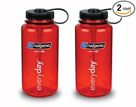 96f3fa94b3 Image Unavailable. Image not available for. Color: Nalgene Tritan Wide  Mouth BPA-Free Water Bottle ...