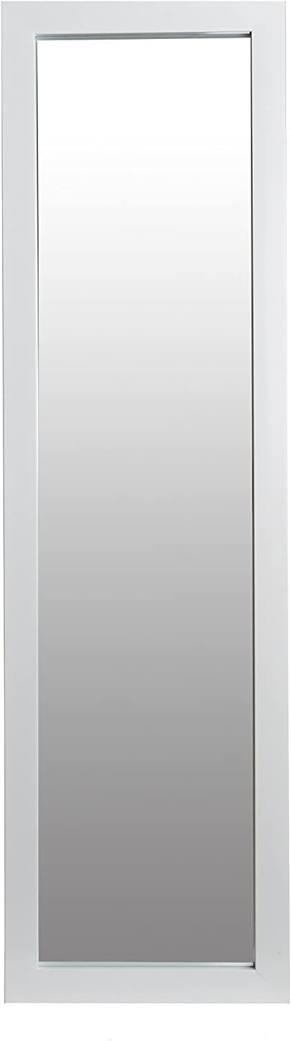 Patton Wall Decor 15x51 Full Length Over The Door Mirror Wall, White (1801-6100)
