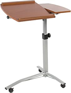 MEDA |Angle & Height Adjustable Rolling Laptop Desk Cart Over Bed Hospital Table Stand