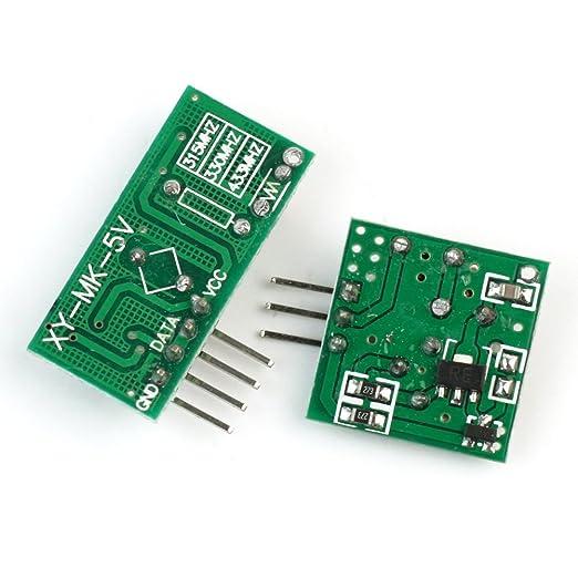 BQLZR 40x23x8mm DC3V-12V 433MHz Fixed Code Wireless Remote Control Transmitter Board Module