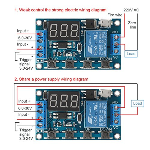 Drok 200119 Digital Led Display 12v On  Off Time Delay Relay Module 12 Volt Timer Relay Switch