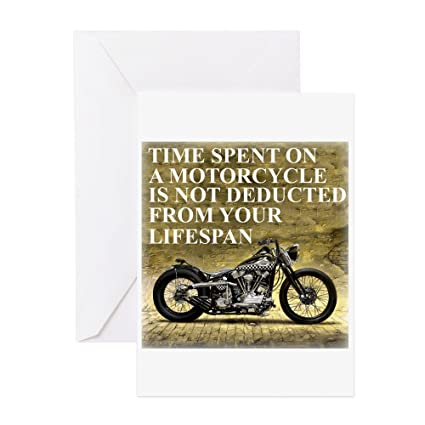 Amazon Cafepress Time Spent On A Motorcycle Greeting Card
