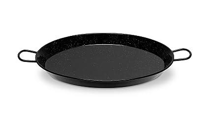 Paellera esmaltada induccion/vitro LA VALENCIANA Hecha en ESPAÑA varios tamaños (Ø30cm 4 raciones)
