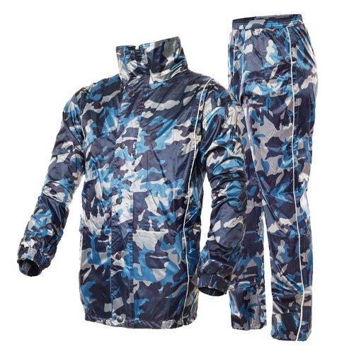 Outdoor Peak Motorrad Regenmantel Camouflage Fahrrad Regenmantel regen Hosen und Jacke anzug für Herren (170~175 cm 70 ~79kg)