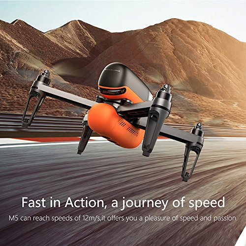CieKen M5 GPS WIFI FPV RC Drone With Ultrasonic Altitude Holding Point RTF, Aerial Photography UAV Single Version 720P + Wide Angle 63 ° + Wifi Map Transmission