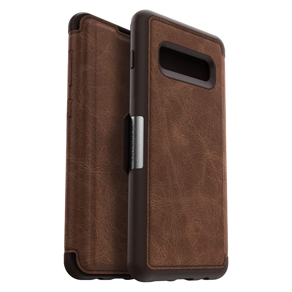 OtterBox STRADA SERIES Case for Galaxy S10+ - Retail Packaging - ESPRESSO (DARK BROWN/WORN BROWN LEATHER) by OtterBox (Image #4)