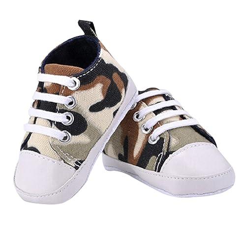 Amazon.com: Jys Prewalker Infant lona zapatillas suave ...