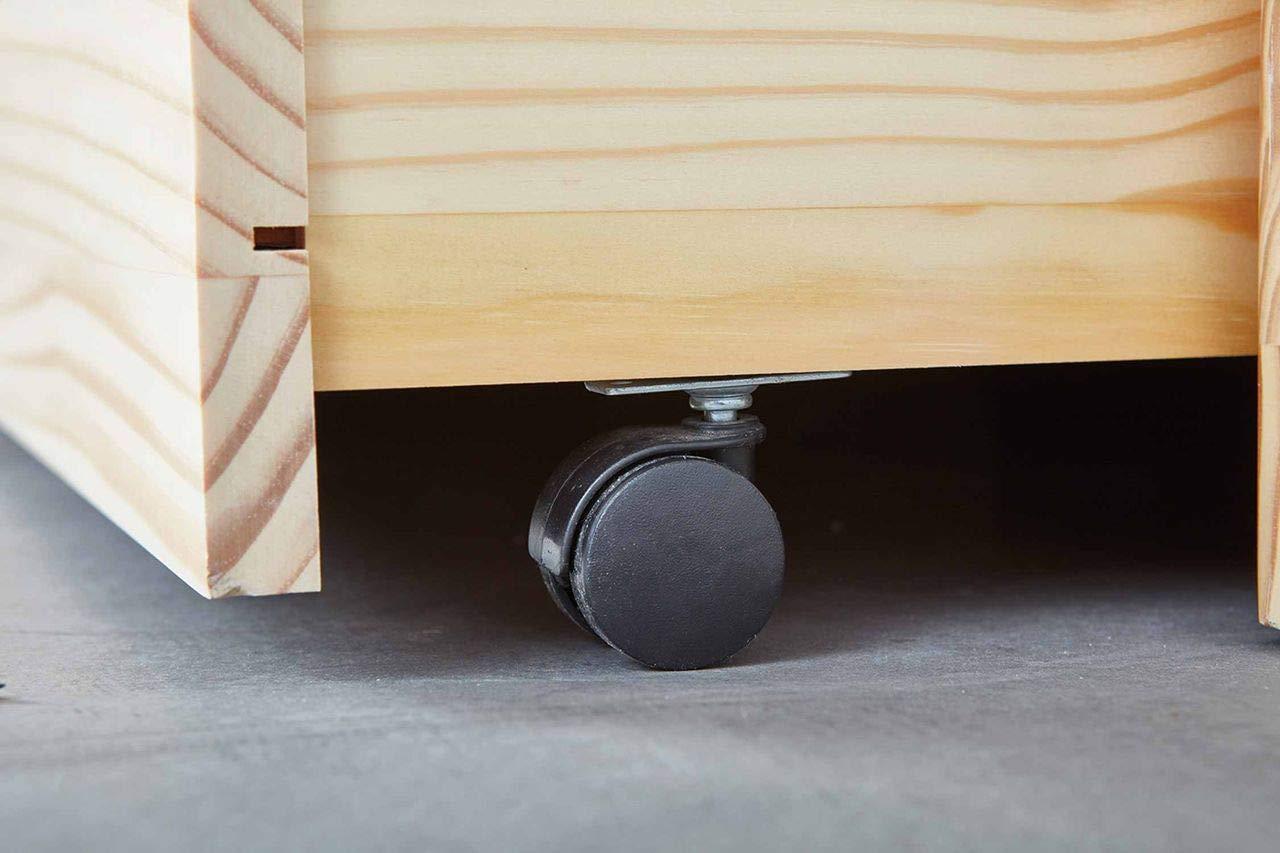 G/ästeliege ausziehbar Massivholz wei/ß 2 Liegefl/ächen 90 x 190 cm Kinderzimmer G/ästezimmer Schlafzimmer Inter Link Sofabett inkl