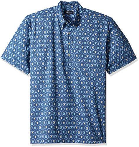Reyn Spooner Men's Spooner Kloth Classic Fit Pullover Hawaiian Shirt, Royal Honu - True Navy XXL