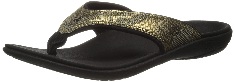 Spenco Women's Yumi Python Flip Flop